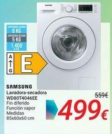 Oferta de SAMSUNG Lavadora-secadora WD80T4046EE por 499€