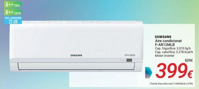 Oferta de SAMSUNG Aire acondicionado F-AR12MLB por 399€