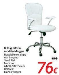 Oferta de Silla giratoria modelo Maggie por 76€