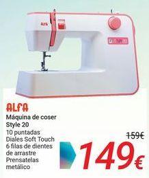 Oferta de ALFA Máquina de coser Style 20 por 149€