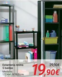 Oferta de Estantería resina 5 baldas por 19,9€