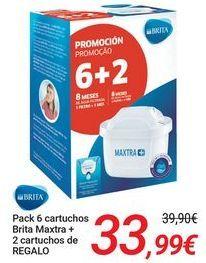 Oferta de BRITA Pack 6 cartuchos Brita MAxtra + 2 cartuchos de REGALO por 33,99€