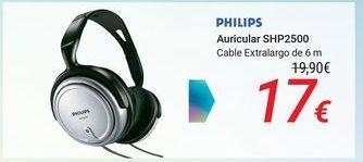 Oferta de PHILIPS Auricular SHP2500 por 17€