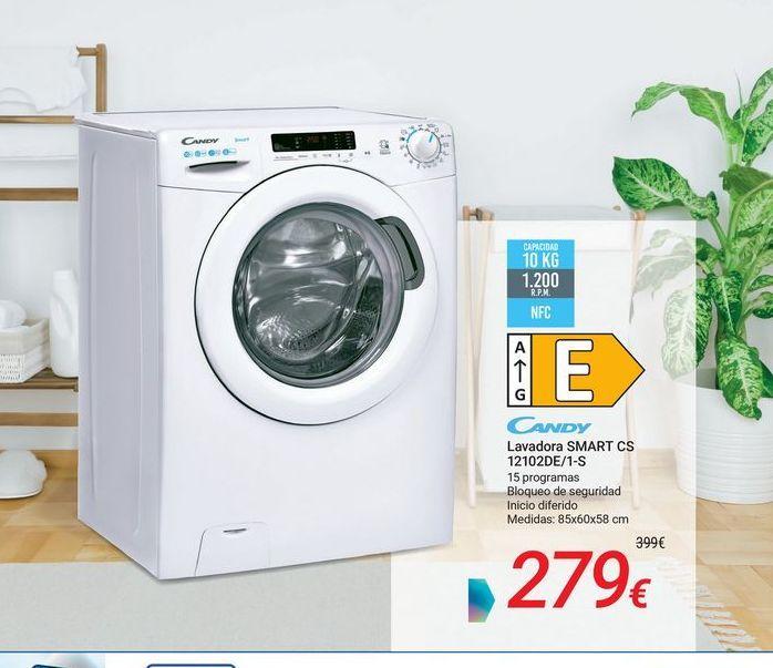 Oferta de CANDY Lavadora SMART CS 12102DE/1-S por 279€