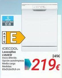 Oferta de ICECOOL Lavavajillas LV60EW por 219€