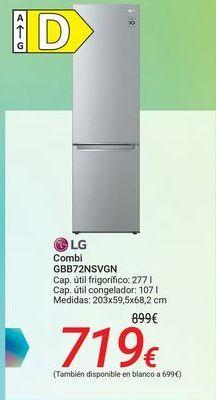Oferta de LG Combi GBB72NSVGN por 699€