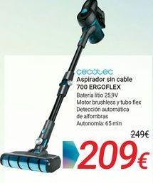Oferta de CECOTEC Aspirador sin cable 700 ERGOFLEX por 209€