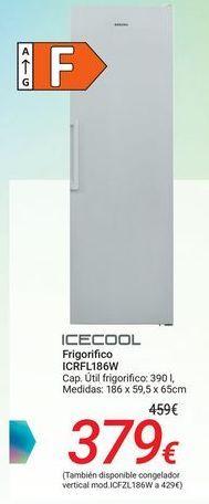 Oferta de ICECOOL Frigorífico ICRFL186W por 379€