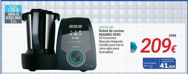 Oferta de CECOTEC Robot de cocina MAMBO 8590 por 209€