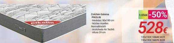 Oferta de Colchón Galerna PIKOLIN por 528€