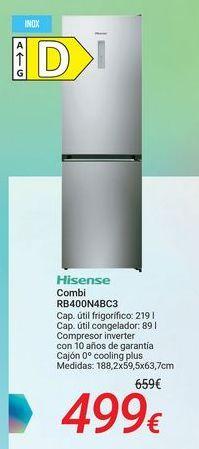 Oferta de Hisense Combi RB400N4BC3 por 499€
