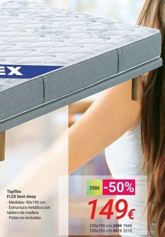 Oferta de Tapiflex FLEX best sleep por 149€