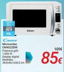 Oferta de CANDY Microondas CMXG22DW por 85€