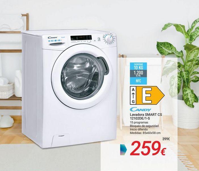Oferta de CANDY Lavadora SMART CS 12102DE/1-S por 259€