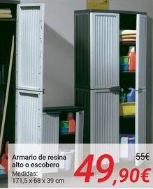 Oferta de Armario de resina alto o escobero por 49,9€
