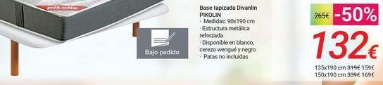 Oferta de Base tapizada Divanlin PIKOLIN por 132€