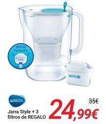 Oferta de BRITA Jarra Style + 3 filtros de REGALO por 24,99€