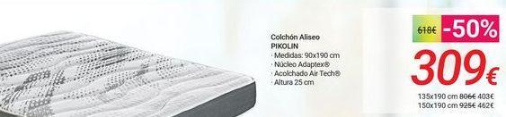 Oferta de Colchón Aliseo PIKOLIN por 309€