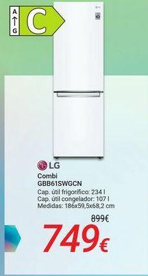Oferta de LG Combi GBB61SWGCN por 749€