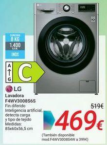 Oferta de Lavadora F3WV3008S6S LG por 469€