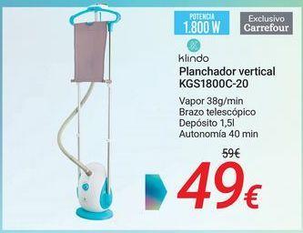 Oferta de Klindo Planchador vertical KSG1800C-20 por 49€