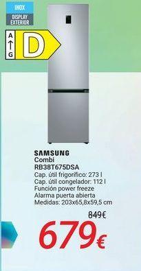 Oferta de SAMSUNG Combi RB38T675DSA por 679€