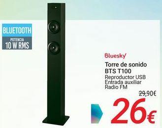 Oferta de Bluesky Torre de sonido BTS T100 por 26€