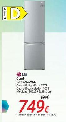Oferta de Combi GBB72NSVGN LG  por 749€