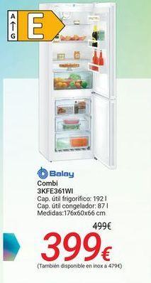 Oferta de Combi 3KFE361WI Balay  por 399€