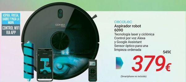 Oferta de CECOTEC Aspirador robot 6090 por 379€