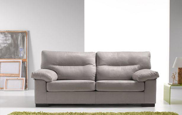 Oferta de Sofá 3 plazas desenfundables con espuma y fibra en varios tapizados. por 538€