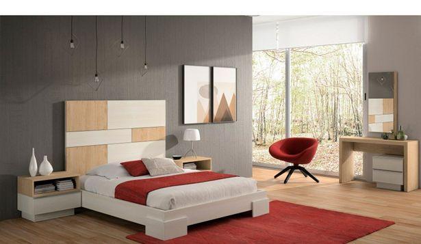 Oferta de Dormitorio de matrimonio senior en roble natural y blanco nórdico por 1077€