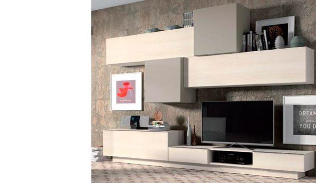 Oferta de Muebles de salón modular-cubos con acabados en glaciar y visón por 1134€