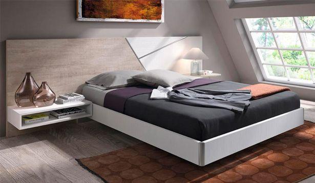 Oferta de Dormitorio de matrimonio moderno con bañera en roble y blanco poro por 1335€