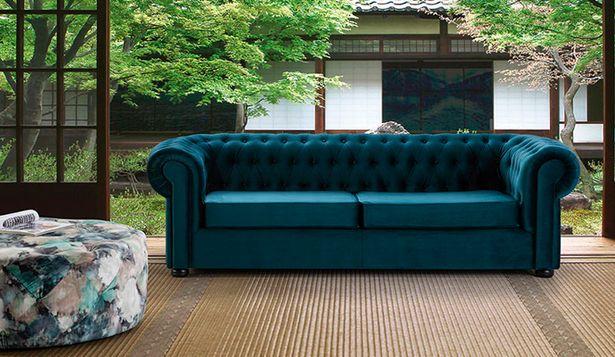 Oferta de Sofá de 3 plazas Chester estilo vintage por 845€