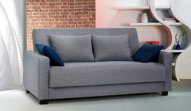 Oferta de Sofá cama con tejido aqua clean disponible en varios colores por 595€