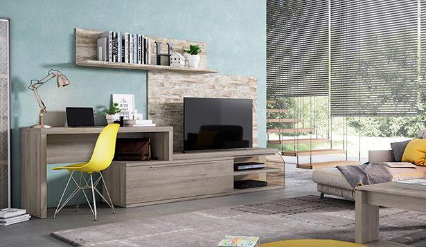 Oferta de Muebles de salón en vintage y roble iron por 678€