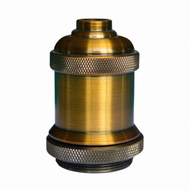 Oferta de Portalámparas E27 1 Luz Acero Oro Cobre por 9,95€