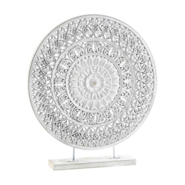Oferta de Decoración Mandala Metal Decape Blanco por 17,99€