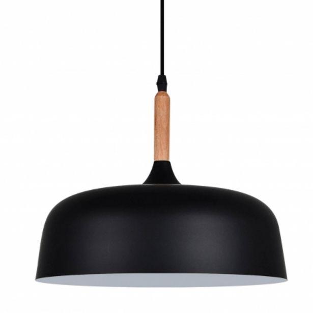 Oferta de Lámpara Colgante Leah Negro por 59€