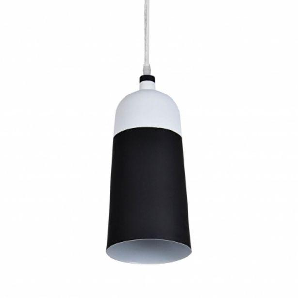 Oferta de Lámpara Colgante Tessa Negro/blanco por 39€