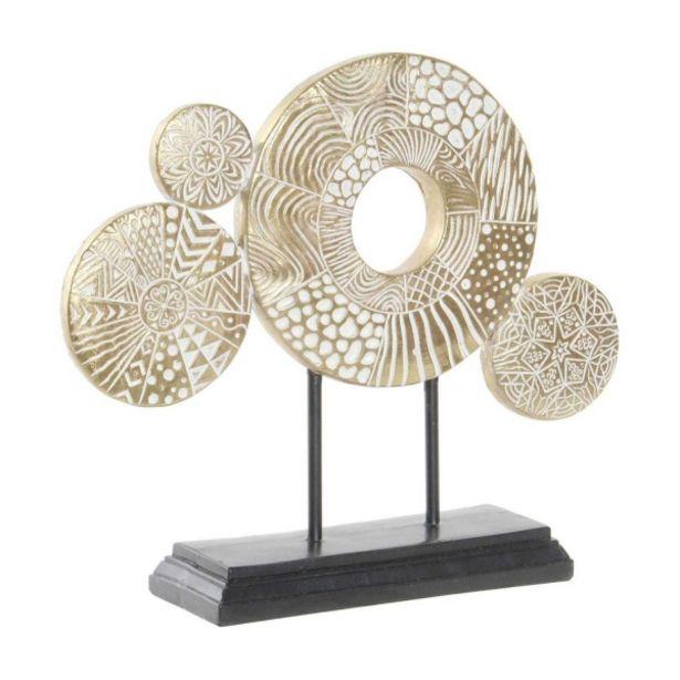 Oferta de Decoracion Metal Circulos Dorado por 32,95€