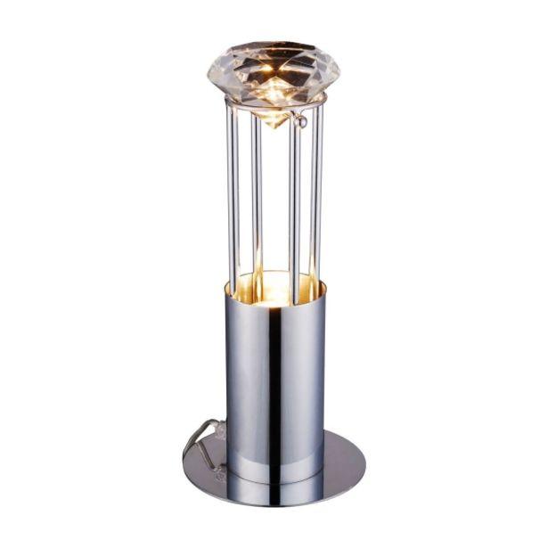 Oferta de Lámpara De Mesa Sancy Acero Cromado por 39€