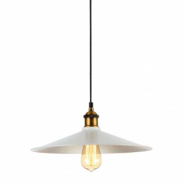 Oferta de Lámpara De Techo 1 Luz Alanis Blanco por 29,99€