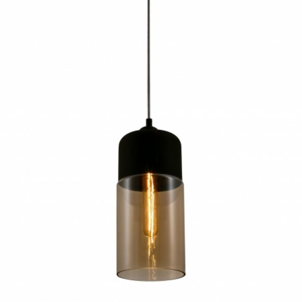 Oferta de Lámpara Colgante Cilindrico Ailann Ámbar por 39,95€