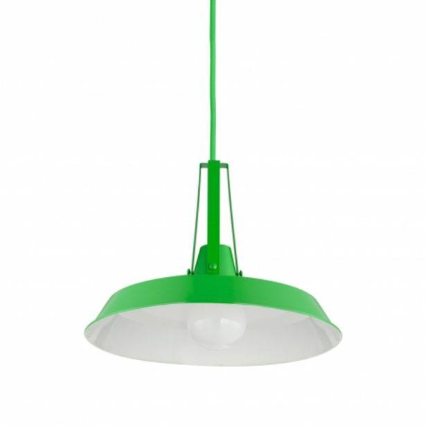 Oferta de Lámpara Colgante Josie Verde por 35€
