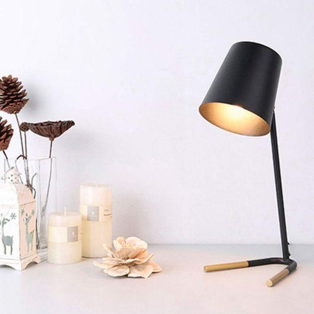 Oferta de Lámpara De Mesa Negro/dorado Anaya por 39,99€