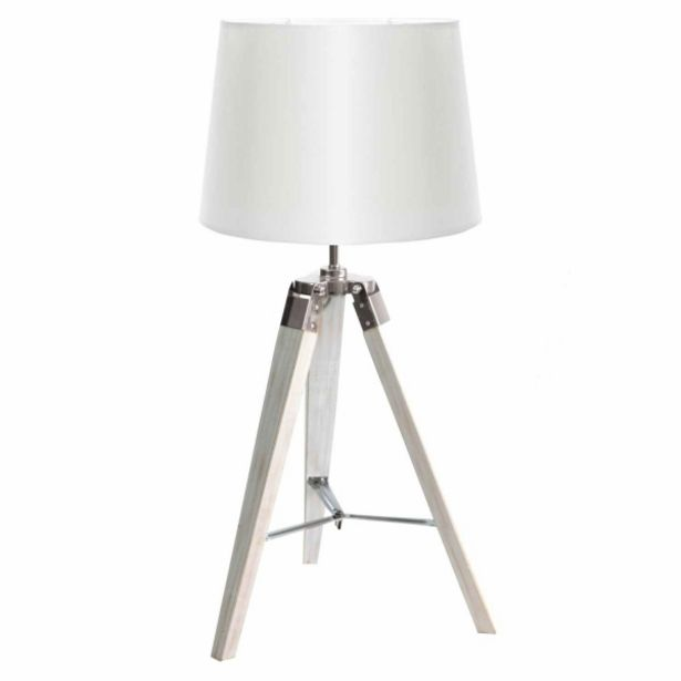 Oferta de Lámpara De Mesa Abril Pantalla Blanca por 65€