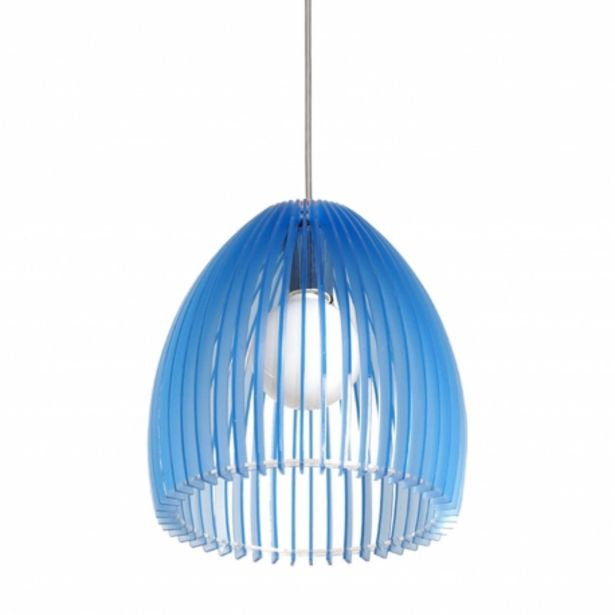 Oferta de Lámpara Colgante Claire Azul por 30,99€