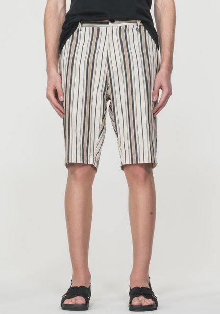 Oferta de Pantalones Cortos Loose Fit De Algodón 100% Jacquard A Rayas por 49,5€